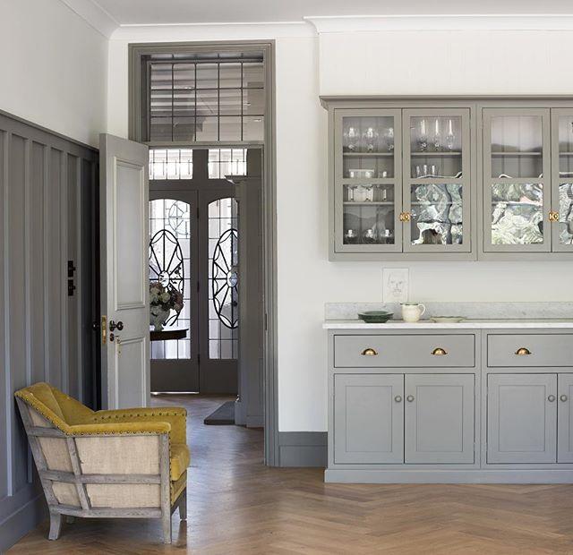 Beautiful grey cupboards, Bella Brass | WEBSTA - Instagram Analytics
