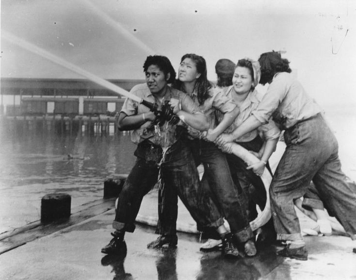Firewomen at Pearl Harbour
