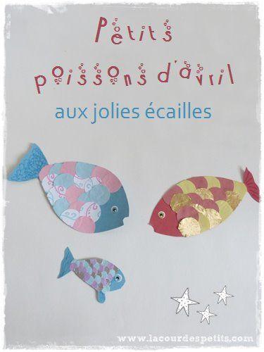 Un modèle de poisson d'avril pour travailler la motiricité fine en maternelle ou même plus grand
