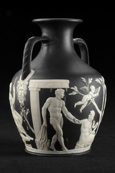 Replica of the Portland Vase by Josiah Wedgwood √ http://en.wikipedia.org/wiki/Portland_Vase