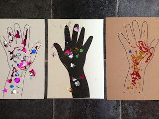 Diwali Hand Art