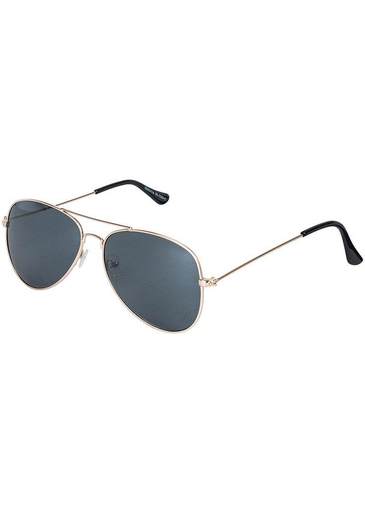 Madonna Mode Sonnenbrille LANA 98-0035-C Piloten Style schwarz gold - 77onlineshop