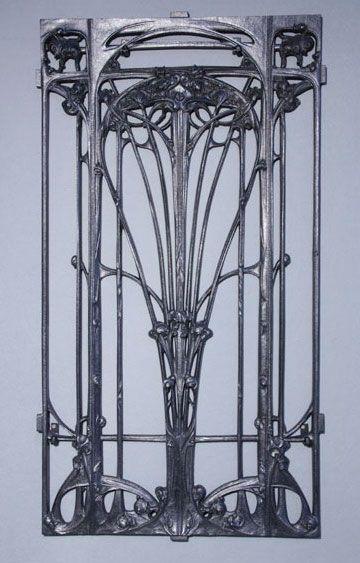 Hector Guimard Cast Iron Railing Art Nouveau / French, c.1903-07 / Cast by the Saint-Dizier founders, Leclerc et Cie
