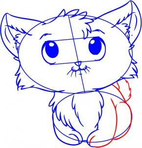 how to draw a simple kitten