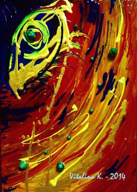 Vitalina K. Samosvat - Art: Για καλή τύχη - ένα μάτι στό σπίτι σας.