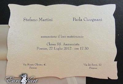 partecipazioni di nozze E45510
