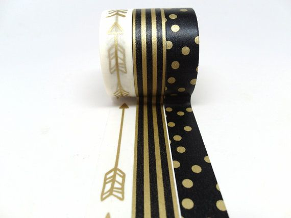 Gold Arrow Black and Gold Stripe Black and Gold by chickydoddle