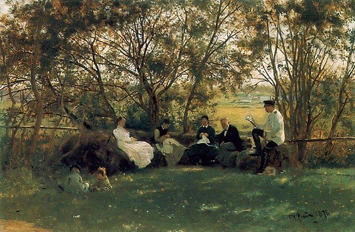 Σε ένα παγκάκι. (1876)