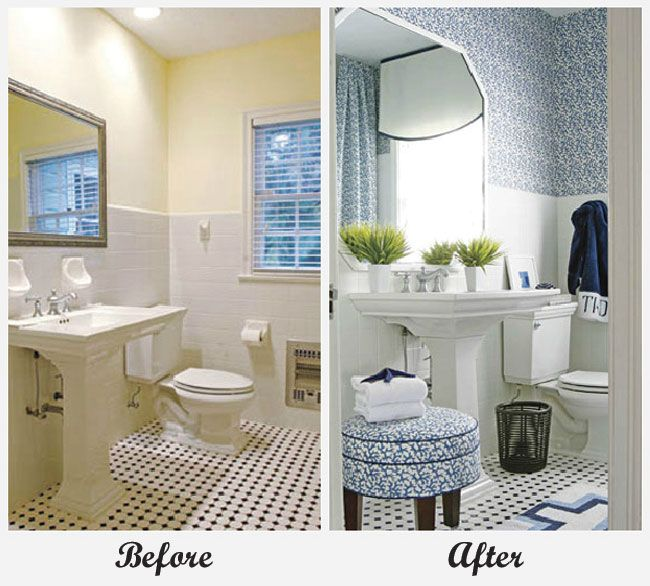 Bathroom Makeovers For Small Bathrooms: Great Round Up Of Some Fabulous Room Makeovers