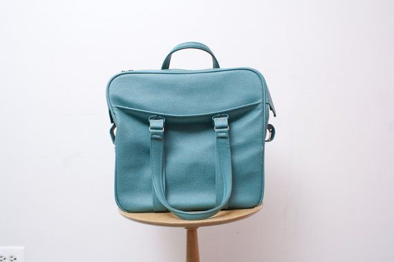 Turquoise Samsonite CarryOn Bag Tote Luggage by TheSpringFox, $32.00