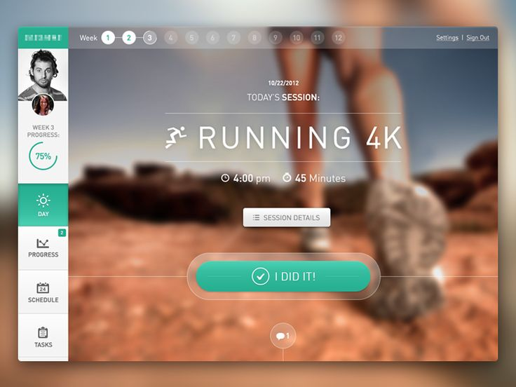 Fitness Application Web Dashboard