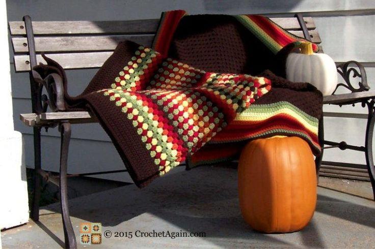 Autumn Medley Crochet Granny Afghan