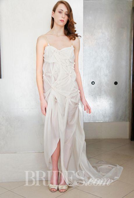 Casket lining.  Brides.com: . Wedding dress by Kelima K