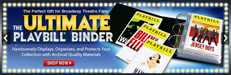 For all your Playbills-The Ultimate Playbill Binder