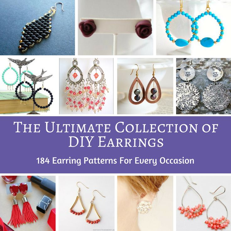 The Ultimate Collection of DIY Earrings: 184 Earring Patterns for Every Occasion | This collection has made hunting for cute earring patterns easy on you! How could you not want to take a peak at what's inside?