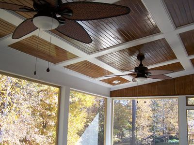 Beadboard ceilings on porch of the j g porch include stained beadboard ceilings and two for Exterior beadboard porch ceiling