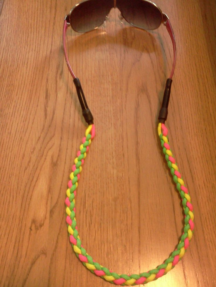 Sunglass leash Retainer Croakie Strap Holder.550 Paracord Braided Candy Color    $13.29