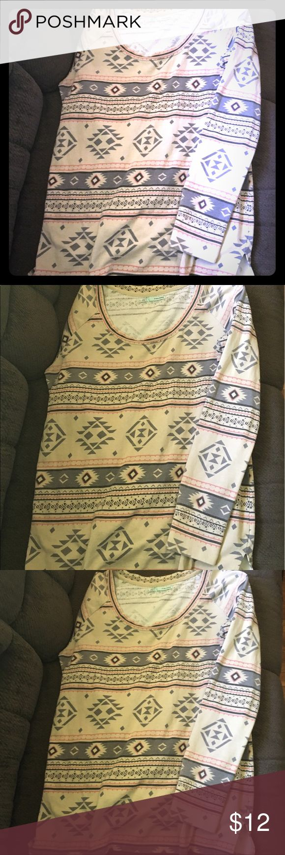 Women's Aztec Print Sweater Comfort and style! Women's large Aztec print sweater from Maurice's. Gently worn. Maurices Tops Sweatshirts & Hoodies