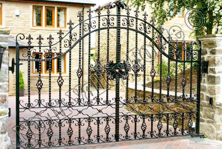 Bespoke wrought iron estate gates from North Valley Forge