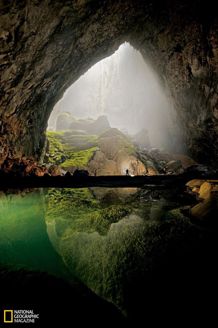 Photographer: Carsten Peter/©National Geographic Magazine,  National Geographic Magazine     January 2011 Earth Science Picture of the Day Viewer's Choice    The amazing photo featured above was taken in a huge cavern complex within the bowels of central Vietnam – in Phong Nha-Ke Bang National Park. During the spring of 2009, a team of spelunkers began exploring a mountain river cave in Vietnam