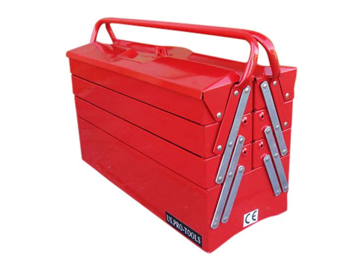 49 US PRO TOOLS PORTABLE STEEL TRAY STORAGE CANTILEVER TOOL CHEST BOX RED in Vehicle Parts & Accessories, Garage Equipment & Tools, Tool Boxes & Storage | eBay