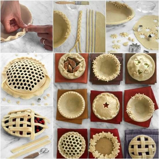 How to DIY Pretty Decorative Pie Crusts | iCreativeIdeas.com Like Us on Facebook ==> https://www.facebook.com/icreativeideas