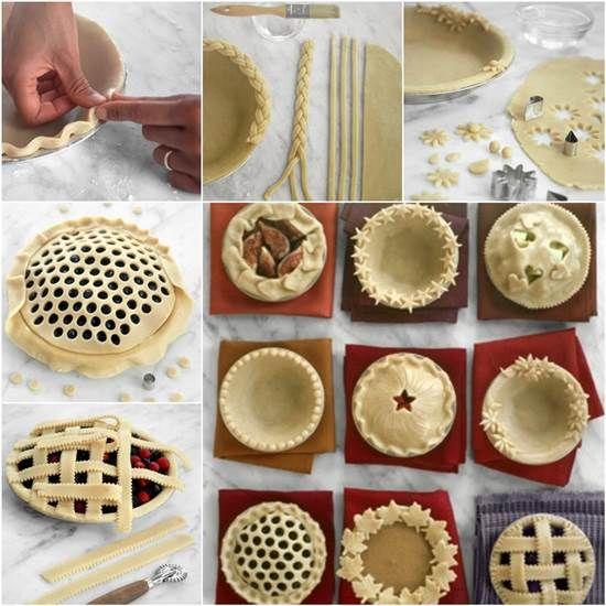 How to DIY Pretty Decorative Pie Crusts | iCreativeIdeas.com #diy #pie #tutorial Follow Us on Facebook --> https://www.facebook.com/iCreativeIdeas