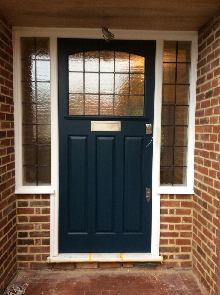 Dark blue Edwardian/ 1930s front door in London & 33 best Edwardian front doors images on Pinterest | Front doors ... pezcame.com