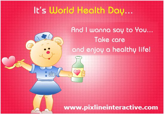 #WorldHealthDay 2015 April 7 Take Care & Enjoy a #Healthy Life! http://www.pixlineinteractive.com/