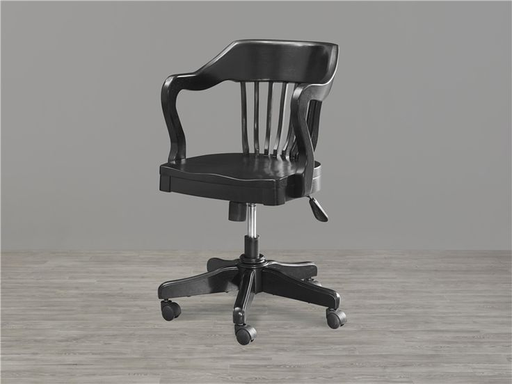 Black And White Bankers Desk Chair