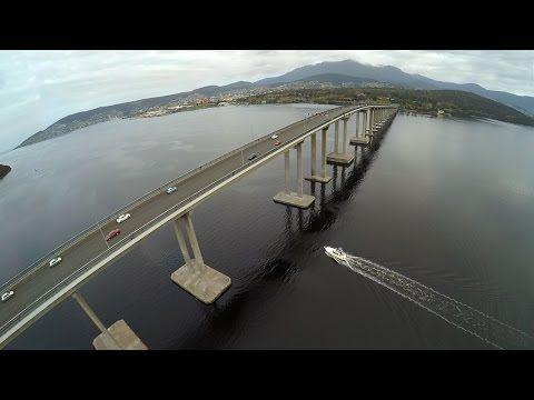 Birds eye view of Hobart Tasmania by Drone! - YouTube