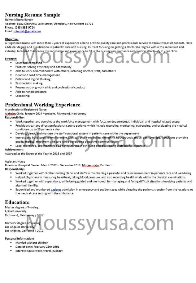 Resume Mous Syusa Nursing Resume Examples Nursing Resume Nursing Resume Template