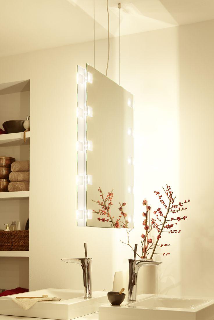 Cute Unser Raumteiler mit quadratischen Lichtausl ssen duo spiegel mirror raumteiler freih ngend