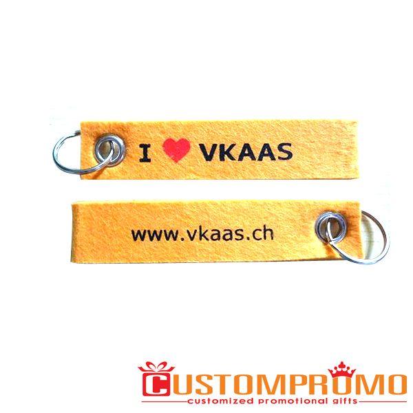 Schlüsselanhänger aus Filz individuell mit Ihrem Logo  14040303