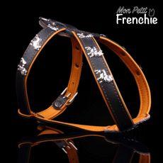 Arnés Bulldog Francés. Talla S - Color marrón