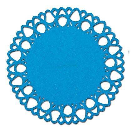 Modern Lace Punch Border Circle