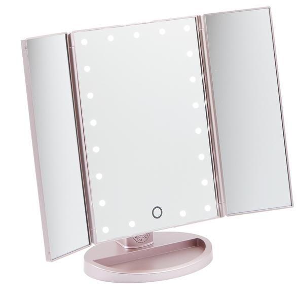 Rose Gold Three Way Vanity Mirror Vanities Compact And Third
