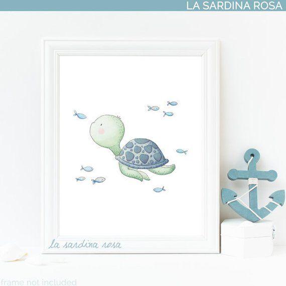 Sea Turtle Art Nautical Nursery Decor