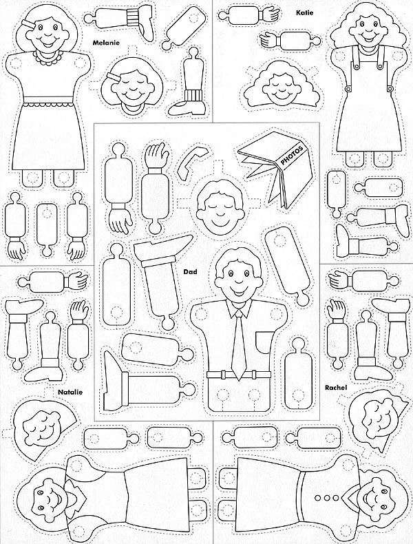 New Lds Prayer Coloring Page 70 Family Prayer Paper Dolls