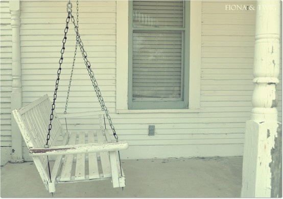 the simple life~Reminds me of the porch of our old farm house I grew up in.