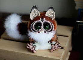 cutest creatures ever! made out of clay & fur & wire.  Artist makes a bunch of different ones, soo talented!  http://santani.deviantart.com/