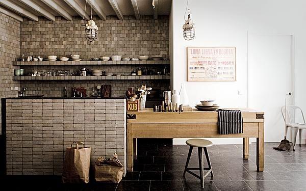 : Kitchens, Interior, Brick, Kitchen Design, House, Der Spek, Rustic Kitchen