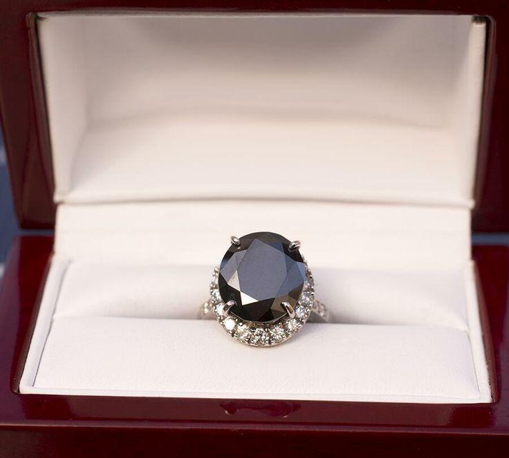 9 ctw. black diamond size 7 original WSJ design