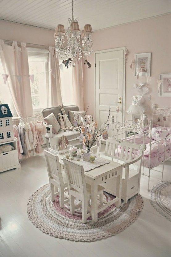 modern looking shabby chic kids room design