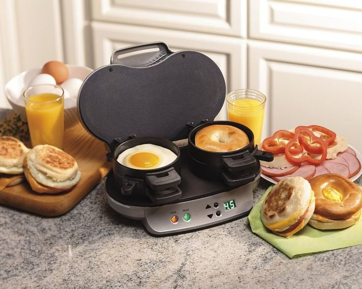 Hamilton Beach 25490A Electric Dual Fast Breakfast Lunch Sandwich Maker Toaster Video available. Send as a gift - just fill in recipient address in at the space for the shipping address at checkout! #HamiltonBeach