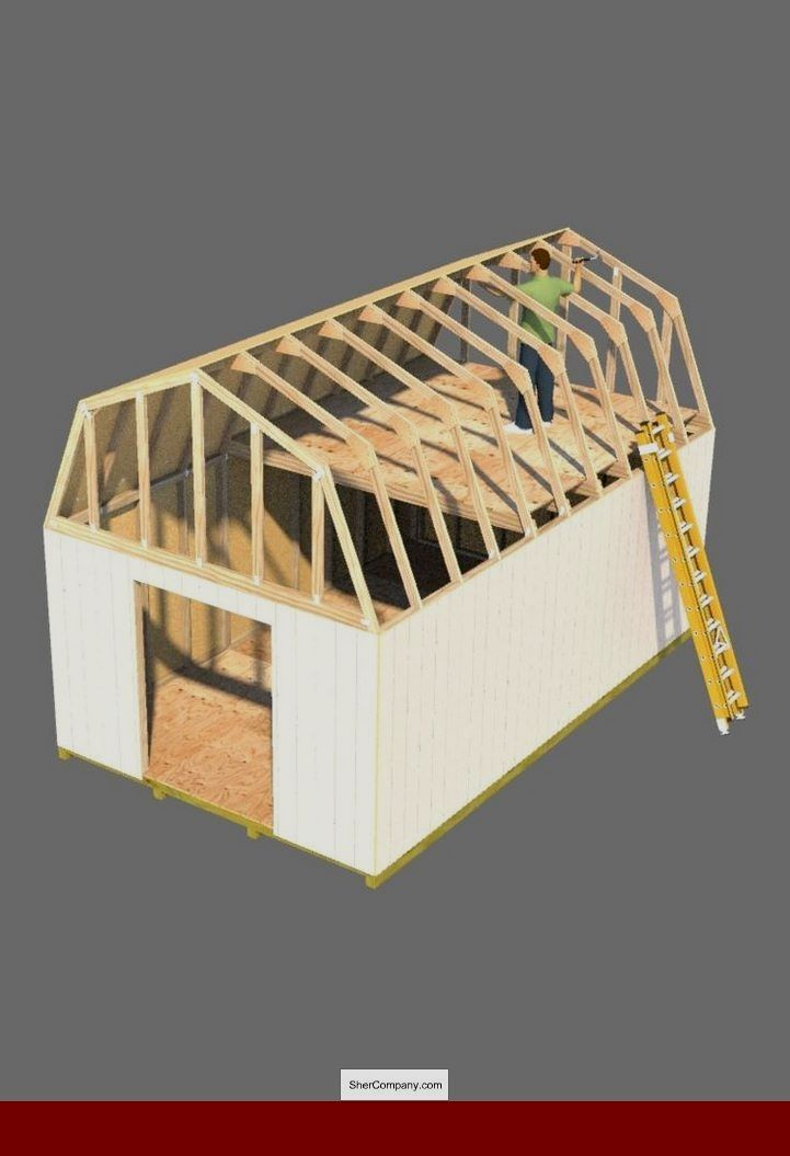Shed Roof Plan Drawing And Pics Of 12x16 Gambrel Roof Shed Plans