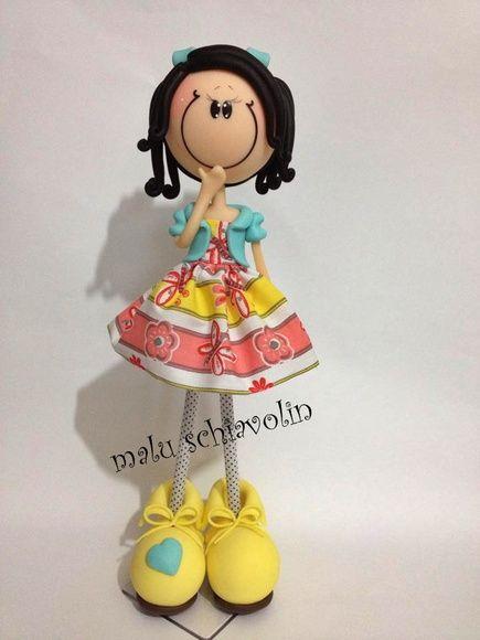 boneca magrela + ou - 32 cm podendo ser confeccionada, de acordo com o gosto da…