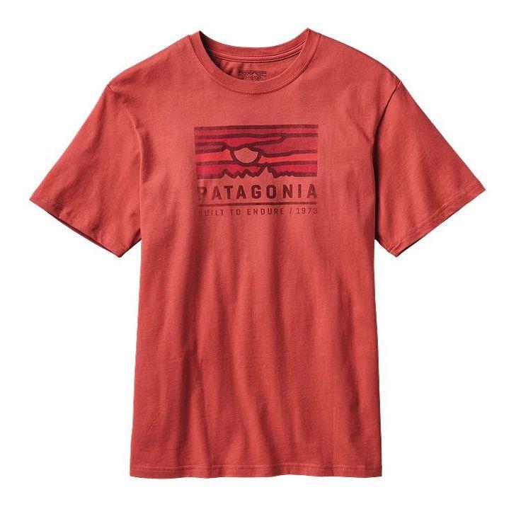 Patagonia - Men\'s Patagonia Sunset Cotton T-Shirt - Sumac Red SUMR