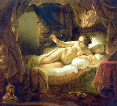 Danae by Rembrandt. Order from DEKORAMI as a poster, canvas print, mural. Zamów jako obraz na płótnie, plakat lub fototapetę na DEKORAMI.pl