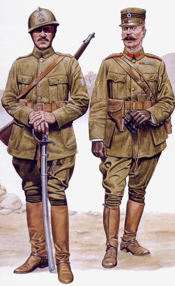 "Studio ""Siberia"" forum --- Forum: Russian Civil war / Гражданская война в России --- Thread: Greek forces in Southern Russia, 1919 Cavalry Lance Corporal (left), Infantry Captain (right)"